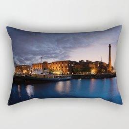 Liverpool Albert Dock At Night Rectangular Pillow