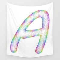 letter Wall Tapestries featuring Letter A by David Zydd