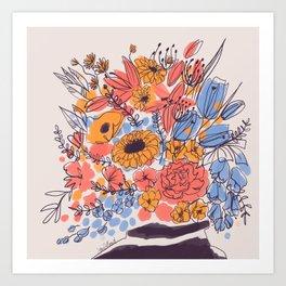February Florals Art Print