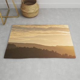 Hills at sunset in the Lake District, England Rug