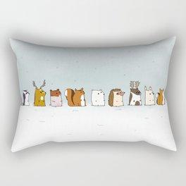 Winter forest animals Rectangular Pillow