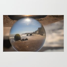 Beach Ball refraction photography with crystal ball Rug