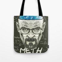 heisenberg Tote Bags featuring Heisenberg by Maioriz Home