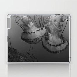 Jellyfish (Black and White) Laptop & iPad Skin