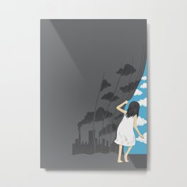 Hey Mr. Blue Sky Metal Print