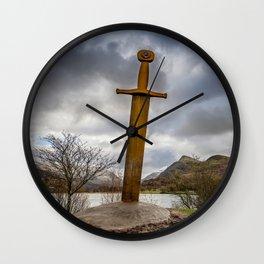 Sword of Llanberis Snowdonia Wall Clock