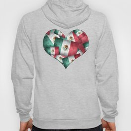 Grunge-Style Mexican Flag Hoody