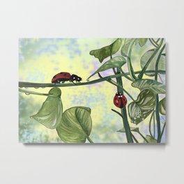Love bugs in the garden Metal Print