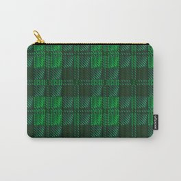 Dark Green Tartan Carry-All Pouch