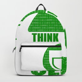 Hacker - Think before you click Backpack