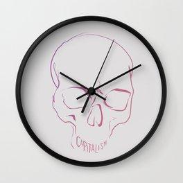 Capitalism - Scull print Wall Clock