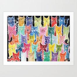 Cats. Cats. Cats. Cats. Cats Art Print
