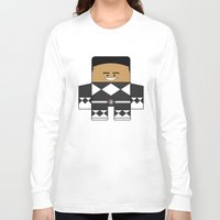 power rangers Long Sleeve T-shirts featuring Mighty Morphin Power Rangers - The Original Black Ranger Unmasked (Zack) by Choo Koon Designs