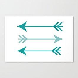 teal arrows Canvas Print