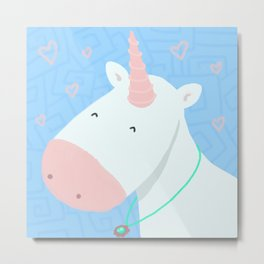 Sweet Unicorn Metal Print