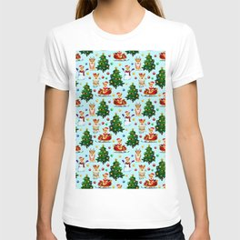 Blue Christmas - From Corgis, Santa And Christmas Trees T-shirt