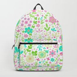 Pastel summer, floral field Backpack