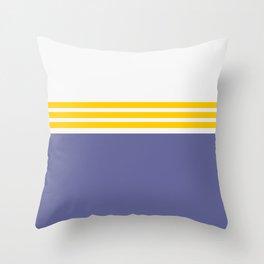 Modern Minimal Striped Blue 02 Throw Pillow
