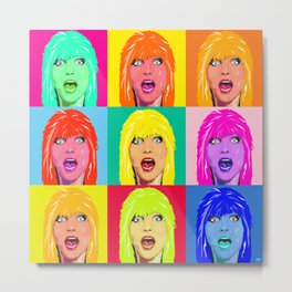DEBBIE HARRY MULTI Metal Print
