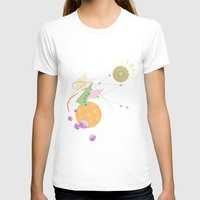 kandinsky T-shirts featuring Abstract Fruits by Mabel S