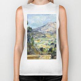 1890 - Paul Cezanne - Montagne Saint-Victoire Biker Tank