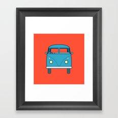 #53 Volkswagen Type 2 Splitscreen Bus Framed Art Print