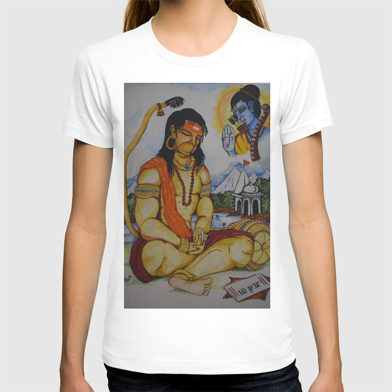 8c2c876825 Painting of Lord Hanuman I Painting of Monkey King I Original painting of  Amrita Gupta T-shirt by designeramy | Society6