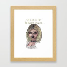 By hook or by crook. Framed Art Print