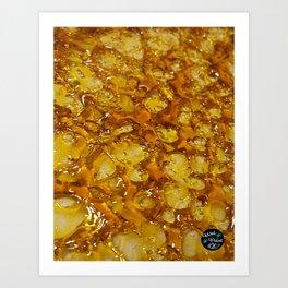 Golden Shatter Art Print