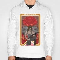 mucha Hoodies featuring Modern Mucha - Sarah Conner by Frank DeAngelo