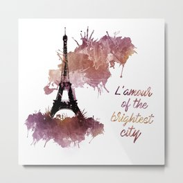 L'amour of the brightest city Metal Print