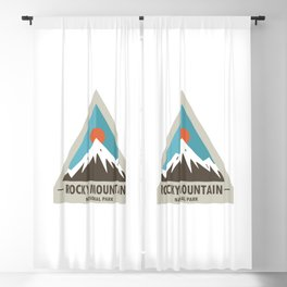 Rocky Mountain National Park Blackout Curtain