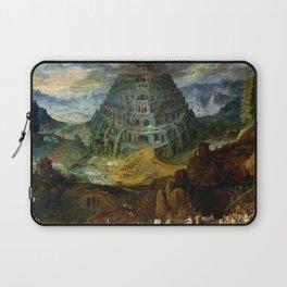 """Jan Brueghel the Elder """"The Tower of Babel"""" Laptop Sleeve"""