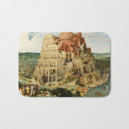 The Tower of Babel 1563 Bath Mat
