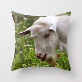 Goat A Load To Talk About Throw Pillow