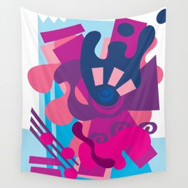 Blue Berry Smoothie Wall Tapestry