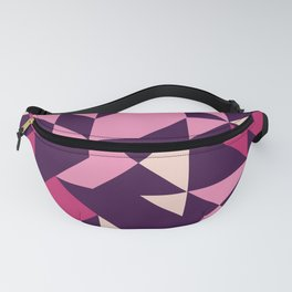 Pinks and Plum Purple Geometric Fanny Pack