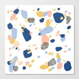 Terrazzo No.1 in Classic Blue  Canvas Print