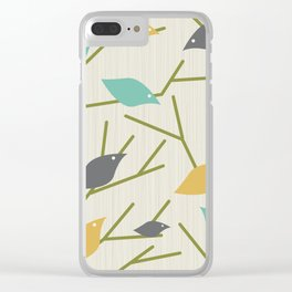 Mid Century Modern Birdsong Clear iPhone Case