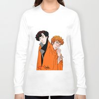 blankets Long Sleeve T-shirts featuring Crash Landings and Shock Blankets by TheScienceofDepiction