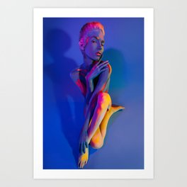 Your Body is Colored by Your Thoughts Art Print