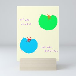 Words from Colorful Tomatoes - food vegetable illustration Mini Art Print