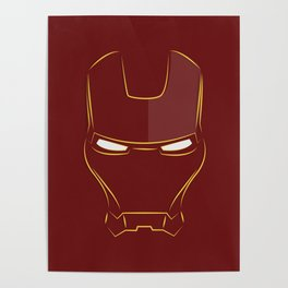 iron man face Poster
