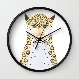 Jaguar portrait Wall Clock