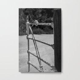SHUT THE GATE Metal Print