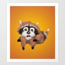 Raccoon Series: Running Scared Art Print