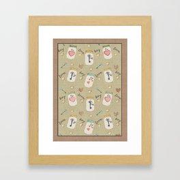 Love Is Key Mason Jar and Antique Key Art Framed Art Print
