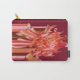 Contemporary Coral-Pink  Spider Mum Rain Art Carry-All Pouch