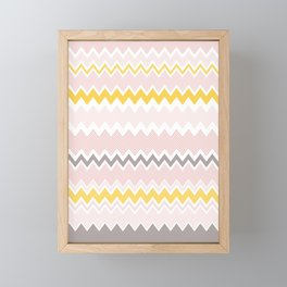 Chevron pattern soft colors Framed Mini Art Print