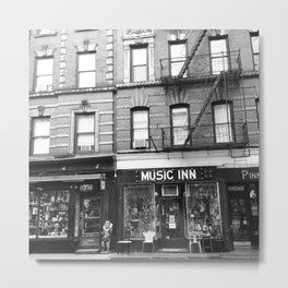'Music Inn' New York Metal Print